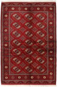 Turkaman Matto 136X200 Itämainen Käsinsolmittu Tummanpunainen/Punainen (Villa, Persia/Iran)