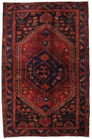 Hamadan Matto 138X214 Itämainen Käsinsolmittu Tummanpunainen/Tummanruskea (Villa, Persia/Iran)