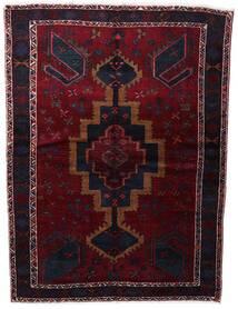 Lori Matto 154X210 Itämainen Käsinsolmittu Tummanpunainen (Villa, Persia/Iran)