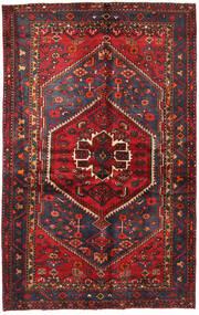 Hamadan Matto 130X208 Itämainen Käsinsolmittu Tummanpunainen/Musta (Villa, Persia/Iran)
