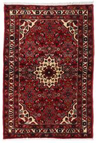 Hosseinabad Matto 98X144 Itämainen Käsinsolmittu Tummanpunainen/Tummanruskea (Villa, Persia/Iran)