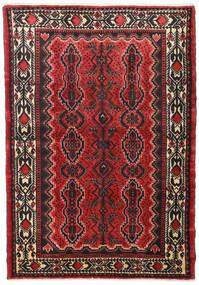 Hamadan Matto 101X160 Itämainen Käsinsolmittu Tummanruskea/Tummanpunainen (Villa, Persia/Iran)