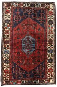 Hamadan Matto 129X202 Itämainen Käsinsolmittu Tummanpunainen/Musta (Villa, Persia/Iran)