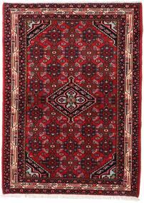 Asadabad Matto 103X142 Itämainen Käsinsolmittu Tummanpunainen (Villa, Persia/Iran)