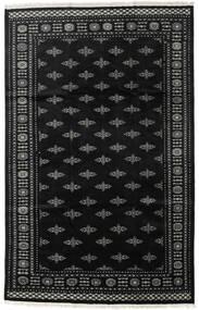 Pakistan Bokhara 2Ply Matto 199X312 Itämainen Käsinsolmittu Musta/Tummanharmaa (Villa, Pakistan)