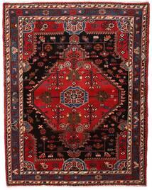 Hamadan Matto 120X156 Itämainen Käsinsolmittu Tummanpunainen/Tummanruskea (Villa, Persia/Iran)