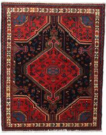 Toiserkan Matto 114X143 Itämainen Käsinsolmittu Tummanpunainen (Villa, Persia/Iran)