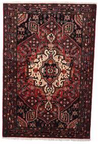 Hamadan Matto 104X158 Itämainen Käsinsolmittu Tummanpunainen (Villa, Persia/Iran)