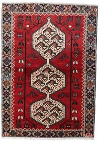 Hamadan Matto 105X150 Itämainen Käsinsolmittu Tummanruskea/Tummanpunainen (Villa, Persia/Iran)