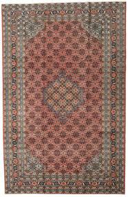 Ardebil Matto 196X298 Itämainen Käsinsolmittu Tummanharmaa/Vaaleanruskea (Villa, Persia/Iran)