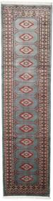 Pakistan Bokhara 2Ply Matto 75X295 Itämainen Käsinsolmittu Käytävämatto Tummanharmaa/Musta (Villa, Pakistan)