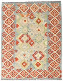 Kelim Afghan Old Style Matto 157X197 Itämainen Käsinkudottu Oranssi/Vaaleanvihreä (Villa, Afganistan)