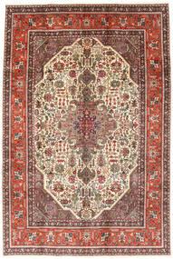 Tabriz Matto 194X288 Itämainen Käsinsolmittu Tummanruskea/Vaaleanruskea (Villa, Persia/Iran)
