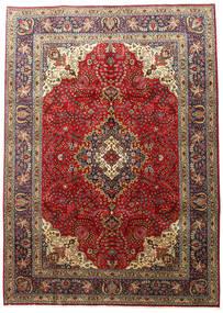 Tabriz Matto 201X283 Itämainen Käsinsolmittu Tummanruskea/Vaaleanruskea (Villa, Persia/Iran)