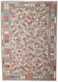 Kelim Afghan Old Style Matto 207X290 Itämainen Käsinkudottu Vaaleanharmaa/Beige (Villa, Afganistan)
