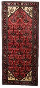 Hamadan Matto 91X208 Itämainen Käsinsolmittu Käytävämatto Tummanpunainen (Villa, Persia/Iran)