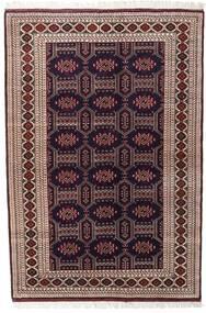 Turkaman Matto 134X197 Itämainen Käsinsolmittu Tummanpunainen/Tummanruskea (Villa, Persia/Iran)