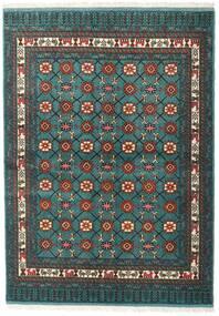 Turkaman Matto 136X187 Itämainen Käsinsolmittu Tumma Turkoosi/Tummanharmaa (Villa, Persia/Iran)