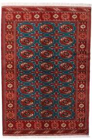 Turkaman Matto 132X195 Itämainen Käsinsolmittu Tummanpunainen/Musta (Villa, Persia/Iran)