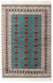 Turkaman Matto 135X198 Itämainen Käsinsolmittu Beige/Vaaleanharmaa (Villa, Persia/Iran)