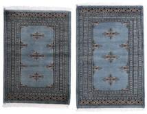 Pakistan Bokhara 2Ply Matto 62X95 Itämainen Käsinsolmittu Tummanharmaa/Sininen (Villa, Pakistan)