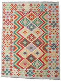 Kelim Afghan Old Style Matto 150X194 Itämainen Käsinkudottu Tummanbeige/Vaaleanharmaa (Villa, Afganistan)