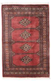 Pakistan Bokhara 3Ply Matto 96X146 Itämainen Käsinsolmittu Tummanpunainen/Ruoste (Villa, Pakistan)
