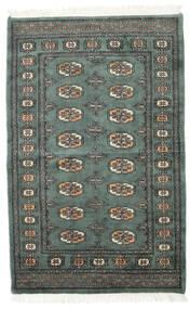 Pakistan Bokhara 3Ply Matto 94X148 Itämainen Käsinsolmittu Tummanharmaa/Tummanvihreä (Villa, Pakistan)