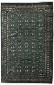 Pakistan Bokhara 3Ply Matto 202X306 Itämainen Käsinsolmittu Tummanharmaa/Tummanvihreä (Villa, Pakistan)