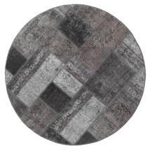 Patchwork - Persien/Iran Matto Ø 150 Moderni Käsinsolmittu Pyöreä Tummanruskea/Tummanharmaa (Villa, Persia/Iran)