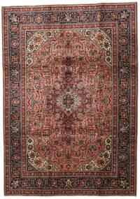 Tabriz Matto 202X286 Itämainen Käsinsolmittu Tummanruskea/Vaaleanruskea (Villa, Persia/Iran)