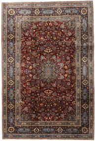 Keshan Matto 198X296 Itämainen Käsinsolmittu Tummanruskea/Tummanharmaa (Villa, Persia/Iran)