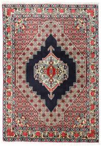 Senneh Matto 123X172 Itämainen Käsinsolmittu Musta/Tummanbeige (Villa, Persia/Iran)