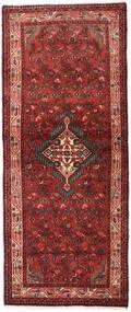Asadabad Matto 80X195 Itämainen Käsinsolmittu Käytävämatto Tummanpunainen/Tummanruskea (Villa, Persia/Iran)