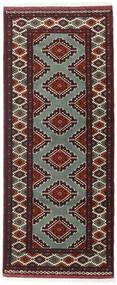 Turkaman Matto 81X196 Itämainen Käsinsolmittu Käytävämatto Tummanpunainen/Tummanruskea (Villa, Persia/Iran)