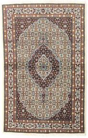 Moud Matto 97X150 Itämainen Käsinsolmittu Vaaleanharmaa/Tummanpunainen (Villa/Silkki, Persia/Iran)