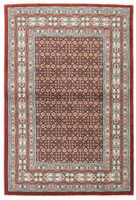 Moud Matto 100X150 Itämainen Käsinsolmittu Vaaleanharmaa/Tummanpunainen (Villa/Silkki, Persia/Iran)