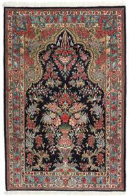 Ghom Kork/Silkki Matto 104X157 Itämainen Käsinsolmittu Tummansininen/Tummanpunainen (Villa/Silkki, Persia/Iran)