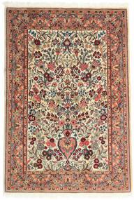 Ghom Kork/Silkki Matto 108X157 Itämainen Käsinsolmittu Beige/Tummanruskea (Villa/Silkki, Persia/Iran)