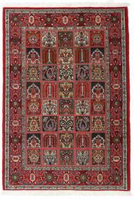 Ghom Kork/Silkki Matto 110X157 Itämainen Käsinsolmittu Tummanruskea/Tummanpunainen (Villa/Silkki, Persia/Iran)