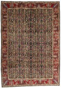 Kerman Matto 202X285 Itämainen Käsinsolmittu Vaaleanruskea/Musta (Villa, Persia/Iran)