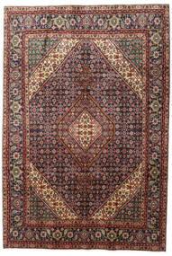 Tabriz Matto 200X291 Itämainen Käsinsolmittu Tummanpunainen/Vaaleanruskea (Villa, Persia/Iran)