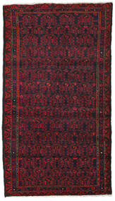 Hamadan Matto 106X190 Itämainen Käsinsolmittu Tummanpunainen/Tummanruskea (Villa, Persia/Iran)