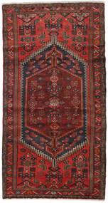 Hamadan Matto 100X188 Itämainen Käsinsolmittu Tummanpunainen/Tummanruskea (Villa, Persia/Iran)