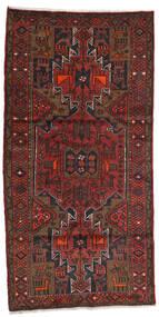 Hamadan Matto 100X199 Itämainen Käsinsolmittu Tummanpunainen/Tummanruskea (Villa, Persia/Iran)