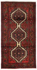 Hamadan Matto 99X193 Itämainen Käsinsolmittu Tummanpunainen/Tummanruskea (Villa, Persia/Iran)