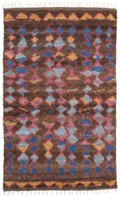 Barchi/Moroccan Berber - Indo Matto 160X230 Moderni Käsinsolmittu Tummanpunainen/Tummanruskea (Villa, Intia)