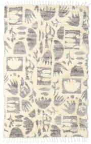 Barchi/Moroccan Berber - Indo Matto 160X230 Moderni Käsinsolmittu Beige/Vaaleanharmaa (Villa, Intia)