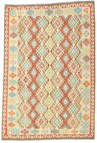 Kelim Afghan Old Style Matto 198X290 Itämainen Käsinkudottu Tummanbeige/Beige (Villa, Afganistan)