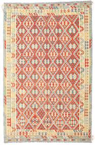 Kelim Afghan Old Style Matto 235X364 Itämainen Käsinkudottu Tummanbeige/Oranssi (Villa, Afganistan)